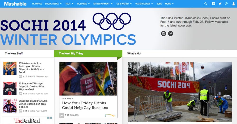 Mashable Olympics Home