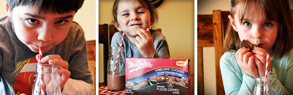 Kids love Mrs Fields Nibblers